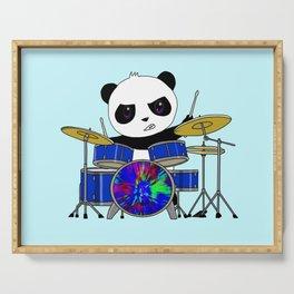 A Drumming Panda Serving Tray