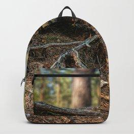 Tree, snags, sand, pine cones, European countryside, pine trees (2018-8SPBS10) Backpack