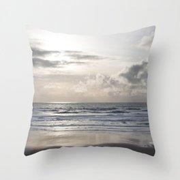 Silver Scene ~ Paint Daubs Effect Throw Pillow