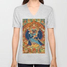 Tantric Buddhist Vajrabhairava Deity 1 Unisex V-Neck