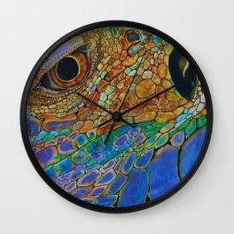 A Lizards Stare Wall Clock