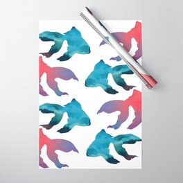Pattern Oil Painting Abstract Tropical Fish Wrapping Paper