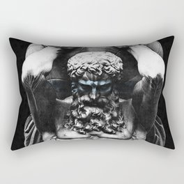 Hercules holding the whole world Rectangular Pillow