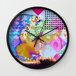 self-portrait Wall Clock