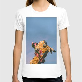 Cowboy on Horse Neon Sign T-shirt