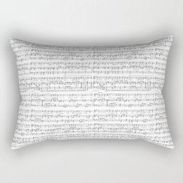 Sheet Music Black and White Pattern Rectangular Pillow
