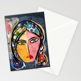 Portrait of a mystique girl Stationery Cards