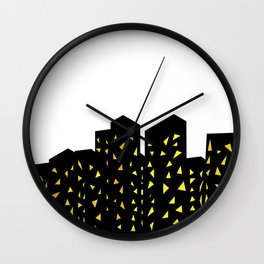 city people dont turn out their lights Wall Clock