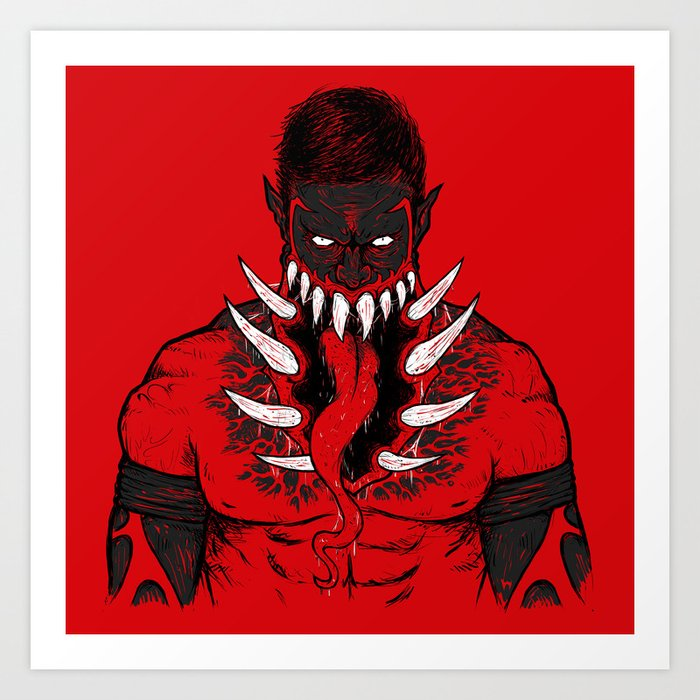 The King Demon Art Print By Desecrateart Society6 Демон и ангел (41 фото). the king demon art print by desecrateart