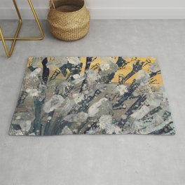 Abstract camouflage pattern Rug