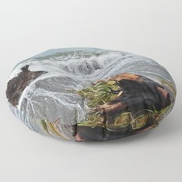 Sea and driftwood mix it up Floor Pillow