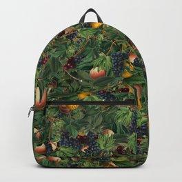 Colorful Fruit And Leaf Medley Random Pattern Collage Backpack