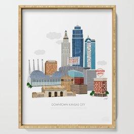 Kansas City Skyline Serving Tray