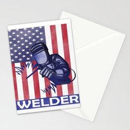 Funny Welder graphic Best Welding print Proud Welders Gift Stationery Cards