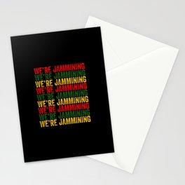 We're Jamming | Jamaican reggae  music lovers gift | Jamaica flag Stationery Cards