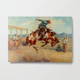 """""""Pitching Pony"""" by Oleg Wieghorst Metal Print"""