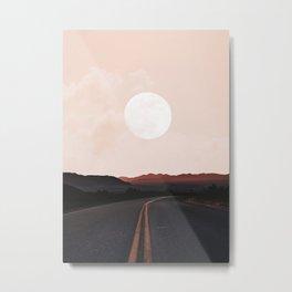 Desert Road Moon Metal Print