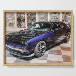 2017 80th Anniversary Two tone Auto Show MOPAR 17 Challenger color photograph / photography Serving Tray