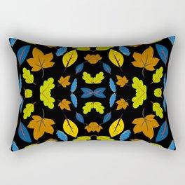 Leaves in black Rectangular Pillow