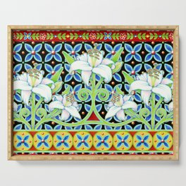 Elizabethan Folkloric Lily Serving Tray