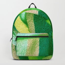 Green Stripe Textile Backpack