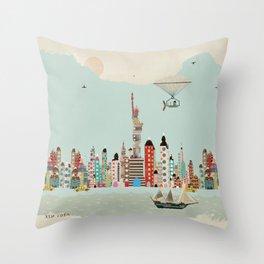 visit new york Throw Pillow