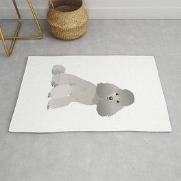 Grey Poodle Dog Rug