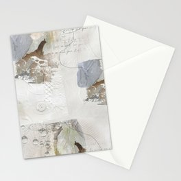 Abstract Leaves in Neutral Colours Stationery Cards