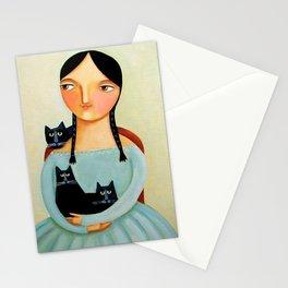 Three Black Cats Stationery Cards