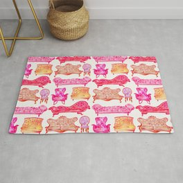 Victorian Lounge – Pink Palette Rug