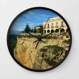 Building in a cliff in Ronda Wall Clock