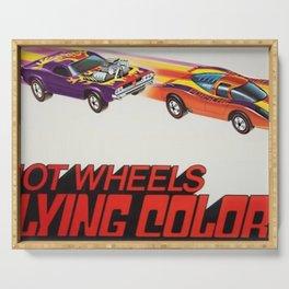 Vintage Redline Flying Colors Hot Wheels Rodger Dodger and Grand Prix Racer Poster Serving Tray