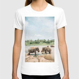 Elephants Bathing in Sri Lanka | Travel Photography | T-shirt