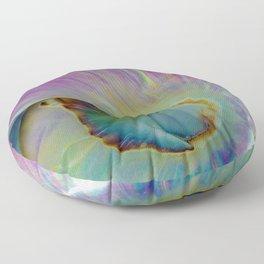 Spiraling Shell Floor Pillow