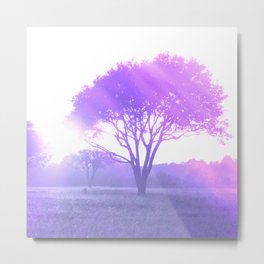 meadow tree purple aesthetic landscape art abstract nature photography Metal Print