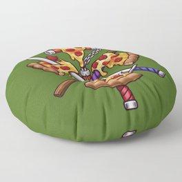 Ninja Pizza Floor Pillow