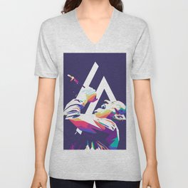 Chester Bennington Pop Art Unisex V-Neck