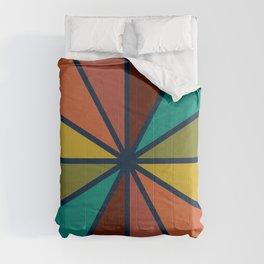Retro Rainbow Dial in Mid Mod Colours Comforters