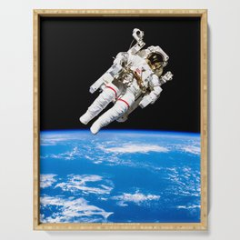 Astronaut Bruce McCandless Floating Free Serving Tray