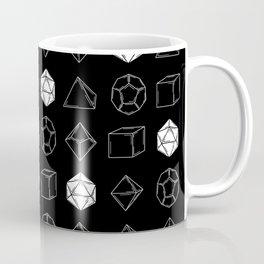 Black Dungeons and Dragons Dice Set Pattern Coffee Mug