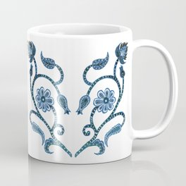 Blue Paisley Heart Coffee Mug