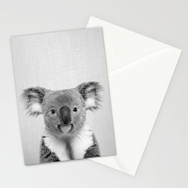 Koala 2 - Black & White Stationery Cards