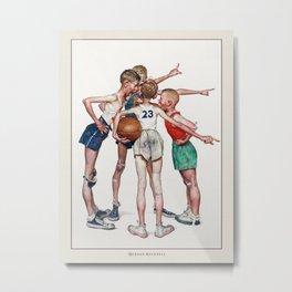 Vintage Poster-Norman Rockwell-Basketball player. Metal Print