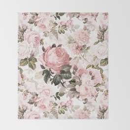 Vintage & Shabby Chic - Sepia Pink Roses  Decke