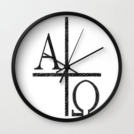 Alpha Omegs Icon Image Wall Clock