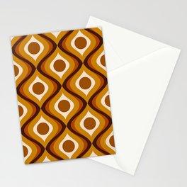 Retro 70s Mid Century Pattern Stationery Cards