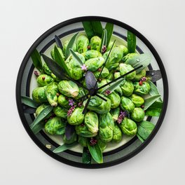 Brussels Sprouts Wall Clock