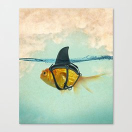Brilliant DISGUISE - Goldfish with a Shark Fin Leinwanddruck