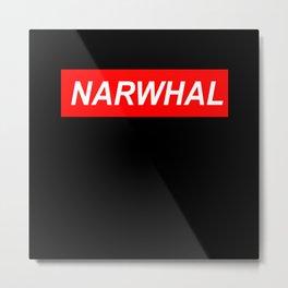 narwhal, narwhal tusk, narwhal unicorn, cute Metal Print