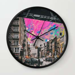 city scape  Wall Clock